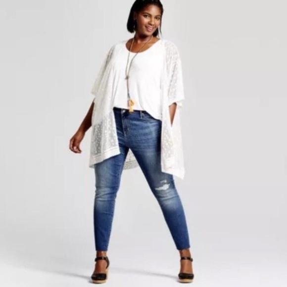 c68a84a6c3cf90 Ava & Viv Jeans | Ava Viv Distressed Jegging Medium Wash Nwt 22w ...